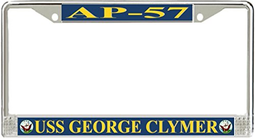 Vr Graphics Uss George Clymer Ap 57 Metal License Plate Frames