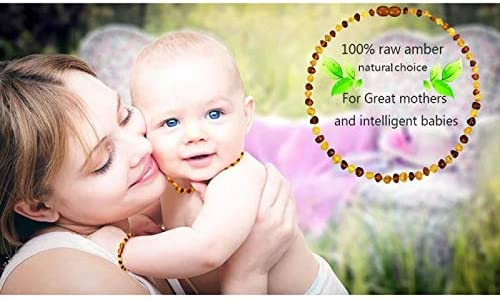 Temgee Baltic Amber Necklace Gift Set Raw Amber Necklace and Bracelet Anti-Flammatory Pain Relief,multistone14in+6in