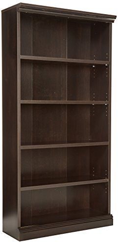 Library Wall System (Sauder Library Bookcase, Estate Black Finish)