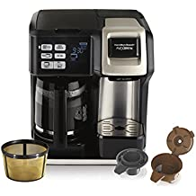Hamilton Beach (49950C) Coffee Maker, Single Serve & Full Coffee Pot, For Use With K Cups or Ground Coffee, Programmable, Includes Gold Tone Filter