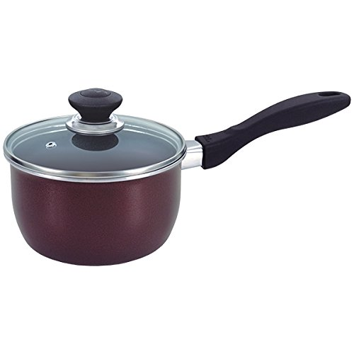 Nonstick Saucepan with Glass Lid 18cm Multipurpose Use for Home Kitchen or Restaurant - Chef's Choice by Kitchen King