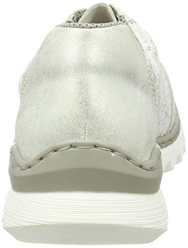 silber Weiß Damen Sneakers 80 Ice Rieker M6228 Weiss UwZWY