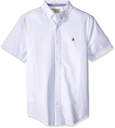 Original Penguin OPWB0081402 Camisa Casual para Hombre, Ballad Blue, Extra Chico