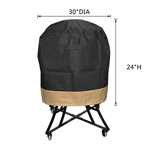 onlyfire Kamado Grill Cover Fits for Large Big Green Egg,Kamado Joe Classic and Stand-Alone,Large Grill Dome,Pit Boss K22,Louisiana K22,Coyote the Asado Cooker and other,30 DIA X 24 H