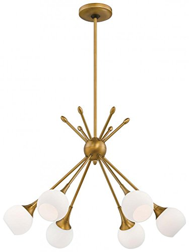 "George Kovacs P1806-248 Single Tier Chandelier, 24"" x 17"" - Single tier chandelier from the pontil collection Height: 17.00 inches Width: 24.00 inches Style: transitional light Type: other chandelier Fixtures - kitchen-dining-room-decor, kitchen-dining-room, chandeliers-lighting - 41heYz2olEL -"