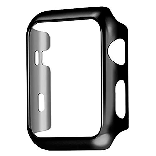 Series 4 44mm Case for Apple Watch Screen Protector, iWatch Premium Plating Protective Ultra-Thin PC Plated Bumper Anti-Scratch Full Cover for Apple Watch Series 4 44mm (Black)