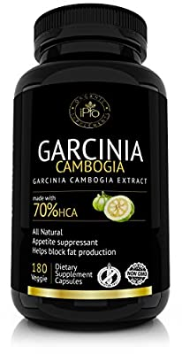 Pure Garcinia Cambogia Extract by iPro Organic Supplements, 70% HCA, 1600mg per Serving, Natural Appetite Suppressant & Weight Loss Supplement, Made in USA, 180 Count
