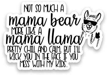 Llama Vinyl Decal For Car Windows or Laptop Cute Smiling Llama Sticker