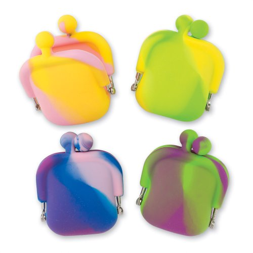 SmileMakers Mini Tie-Dye Silicone Coin Purses - 12 per Pack