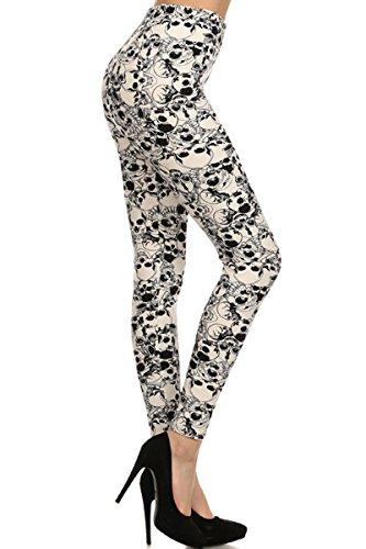 - A018-EXTRAPLUS(3X5X) Skull Mania Print Fashion Leggings