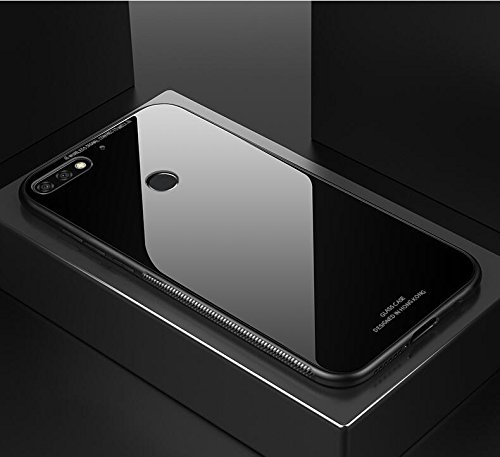 buy online 41a5e aa97a Brain Freezer J Shockproof TPU Back Cover with Back Tempered Glass for  Huawei Honor 7C (Black)