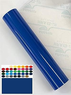 Rollo de vinilo adhesivo brillante de 2 m x 300 mm Ritrama L&M | Elige el color | para Silhouette Cameo/Curio/Retrato/Robo/Scan n Cut Azul Permanente.: Amazon.es: Hogar