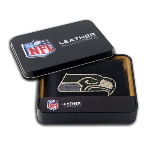 NFL Seattle Seahawks Embroidered Genuine Leather Billfold Wallet