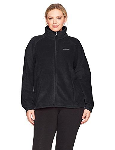 Columbia Women's SizeTested Fz Plus Size Tested Tough in Pink Benton Springs Full Zip Jacket, Black, 1X
