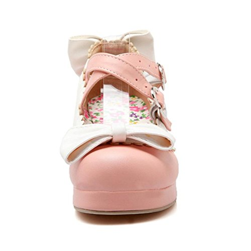 COOLCEPT Pink Court Schuhe Strap Damen Cross wqxqgYS7
