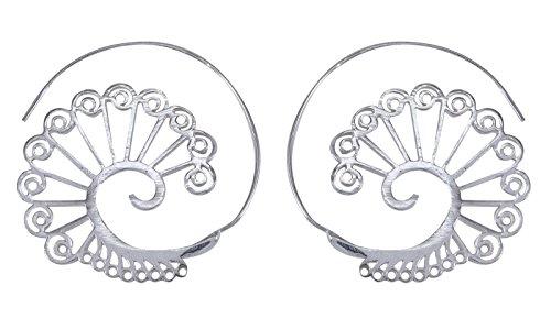 Banithani Vintage Look Indian Ethnic Designer Tribal Dangle Hoop Earring Set Jewelry from Banithani