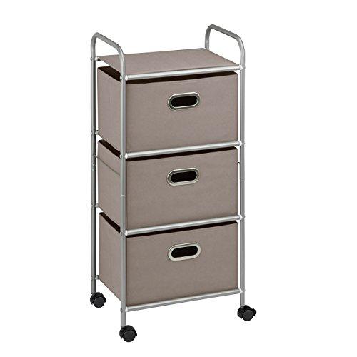Honey Drawer Rolling Cart Grey