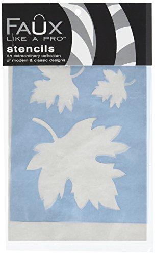 Faux Like a Pro Fallen Leaves Wall Stencil, 5.5 by 7-Inch, Single Overlay