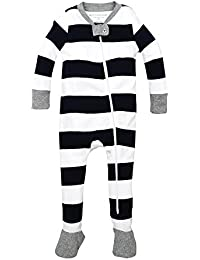 Baby Boys' Sleeper Pajamas, Zip Front Non-Slip Footed...
