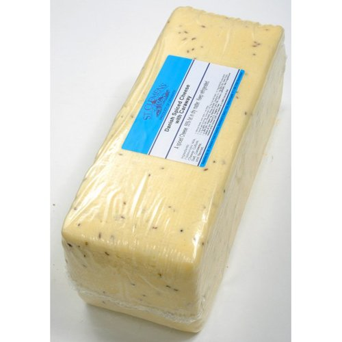 Creamy Havarti Caraway Cheese (Whole Block) Approximately 9 Lbs