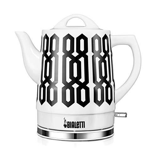 - Bialetti (35027) 1.5 Liter Electric Ceramic Kettle, Trellis Pattern