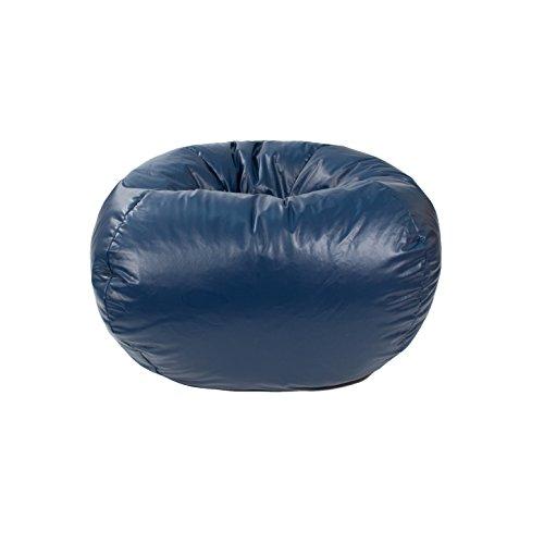 Gold Medal Bean Bags 30010546824 Medium Leather Look Beanbag, Tween Size, Navy (Black Bag Bean Leather)