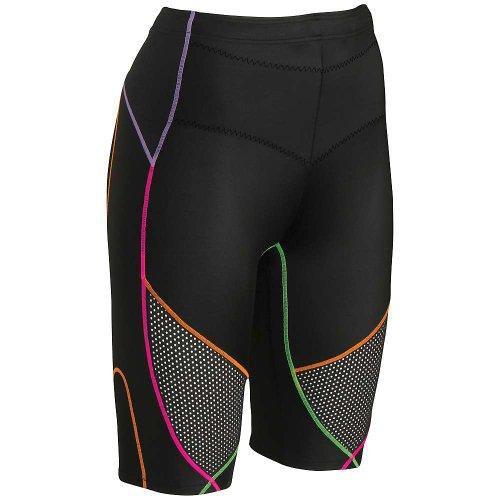 CW-X Stabilyx Ventilator Shorts, Black/Rainbow, Small