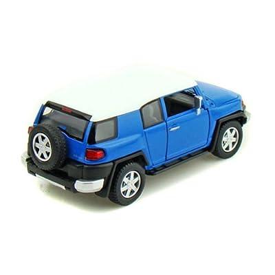 Kinsmart New 1:36 Display - Blue Color Toyota FJ Cruiser Diecast Model Car: Toys & Games