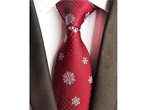 XDXDWEWERT Krawatte der kreativen Männer Fashion Christmas Theme Krawatten für Party Formelle Gelegenheit (Schneeflocke)