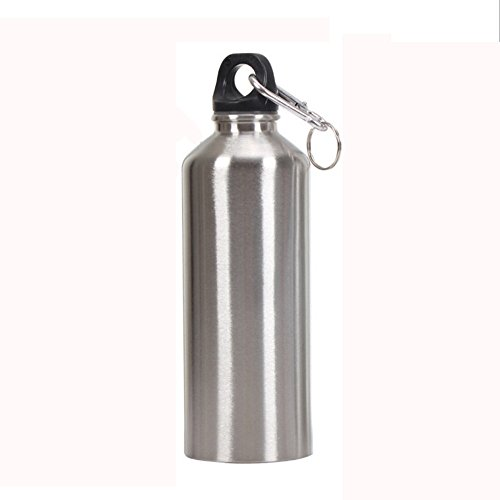 Ouniman Uninsulated Single Walled Stainless Steel Water Bottle for Cyclists, Runners, Hikers, Beach Goers, Picnics, Camping - BPA Free