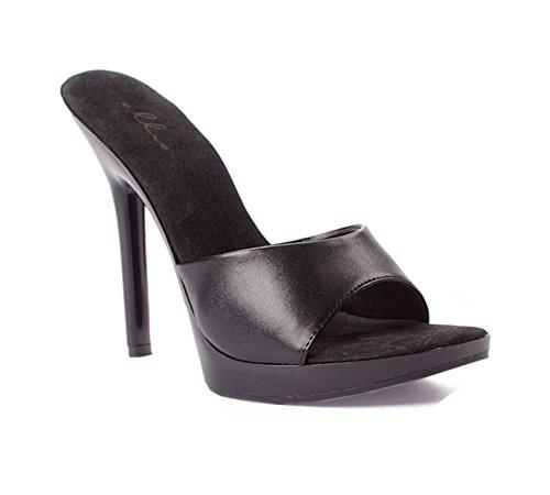 Scarpe Ellie E-502-vanity 5 Heel Mule Black Pu
