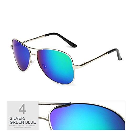 hombre de Blue negro a de guiar del los hombres plata de Silver Aviador gafas gafas TL gafas Gris sol UV400 piloto Sunglasses Green polarizadas moda de gafas sol viaje para OqBfTcPXW