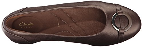 Clarks , Damen Ballerinas grau Pewter Leather