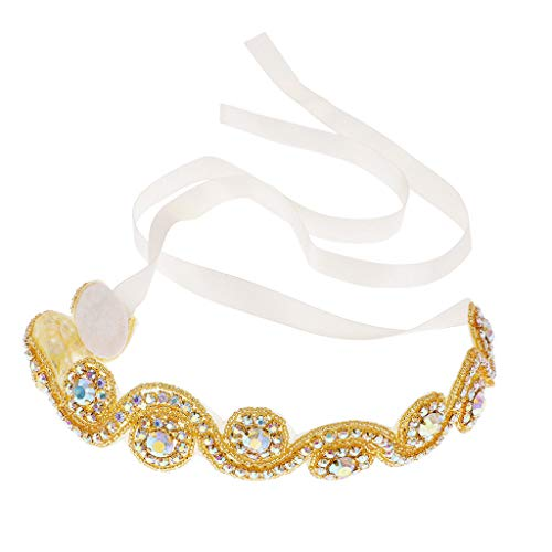 (Fashion Women Weddeing Rhinestone Head Chain Headband Head Piece Hair band)