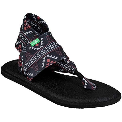 Black Multi Leather - Sanuk Women's Yoga Sling 2 Sandal, San Juan Black, 7