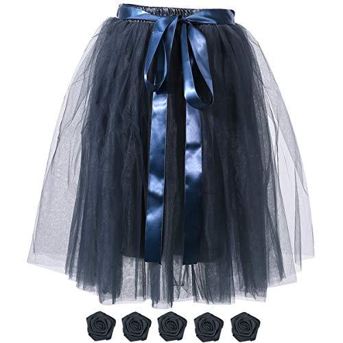 Niagara Falls Halloween Party (Women's Solid A Line Midi/Knee Length Tulle Skirt Grils's Tutu Skirt Formal Skirts Dance Tutu Flowers for DIY)