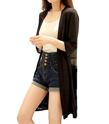 [マジックショップス] レディース カーディガン ロング 長袖 シフォン 大きいサイズ ゆったり ガウン UVカット 薄手