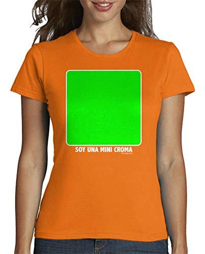 Latostadora Camiseta Mujer Tmfpp009pixelada Para Naranja U6w0U