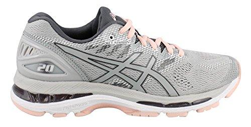 ASICS Women's Gel-Nimbus 20 Running Shoe, mid Grey/mid Grey/Seashell Pink, 9.5 Medium US