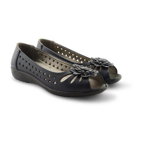 para plano Nuevas para corte sin zapatos ballet marino estilo damas mujer los con en peep zapatillas toe cordones azul de qg0x8g