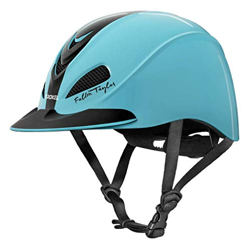 (Fallon Taylor Troxel Turquoise Racer Horse Riding Helmet Low Profile Adjustable (Medium))
