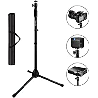 Projector Tripod stand, ExquizOn V2 Portable Projector Tripod Floor Stand Holder Adjustable 29.5 to 55.1 for Projector Digital Cameras Camcorders SLRs with Carry Bag