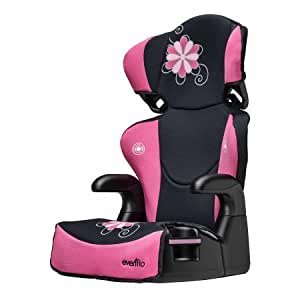evenflo big kid sport high back booster car seat danica pink pink black baby. Black Bedroom Furniture Sets. Home Design Ideas