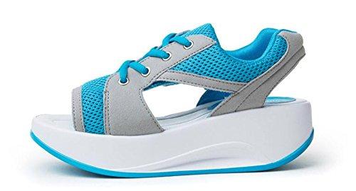 Sandali Sportivi Per Il Fitness Da Donna In Mesh Traspirante Toota Blu