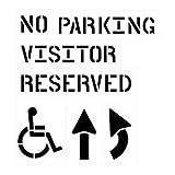 6 Piece Parking Lot Stencil Kits - 6 piece parking lot stencil kit