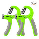 Hand Grip Strengthener Workout, 2-Pack Hand Exerciser Strength Trainer Adjustable Resistance Range 22-88Lbs Non-slip Gripper for Athletes Pianists Kids & Hand Rehabilitation Exercising, Strength Review