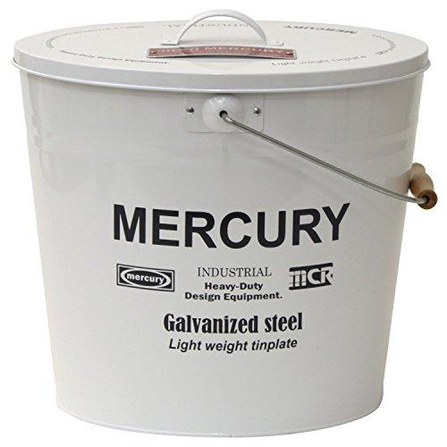 [해외]【 Mercury 】 머큐리 오발 물통 M 크기 Model No.C154 (화이트) / [Mercury] Mercury oval bucket m size Model No.C154 (white)