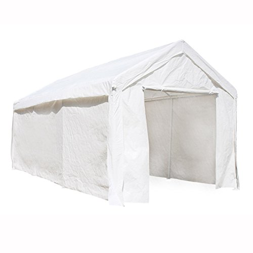 ALEKO CP1020WH 10 x 20 Heavy Duty Outdoor Canopy Carport Tent, White color