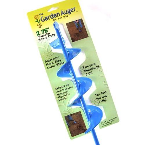 "Garden Auger Bulb Planter 2.75"" x 24"" Heavy Duty"