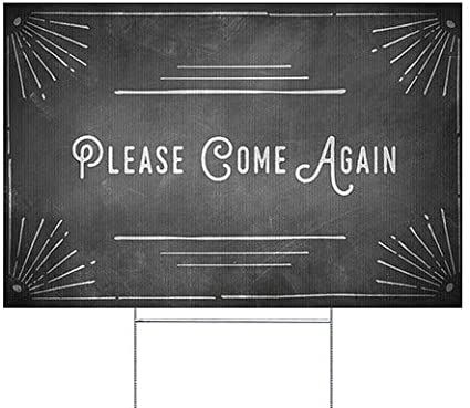 CGSignLab 27x18 Chalk Corner Double-Sided Weather-Resistant Yard Sign 5-Pack Please Come Again